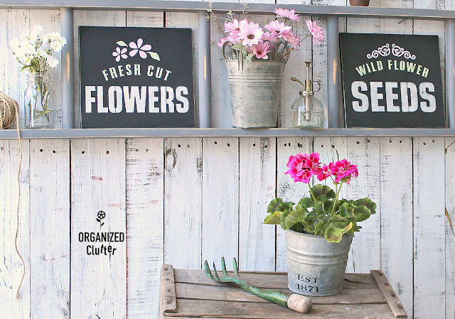 Repurposed Thrift Shop Bunk Bed Ladder Shelf #oldsignstencils #stencil #ladder shelf #thriftshopmakeover #repurpose #upcycling #signs #springdecor #summerdecor