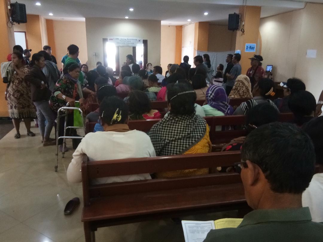 GBKP Kerja sama RSU Korsel Adakan Baksos Kesehatan Peduli Sinabung