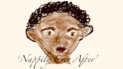 A fan art cartoon of Nappily Ever After character, 12 Random Facts About Chevy, Let's get back to business, Self care, me, time, listening, Black girl, blog, natural hair, natural hair care, blogging @Chevytakesthemic