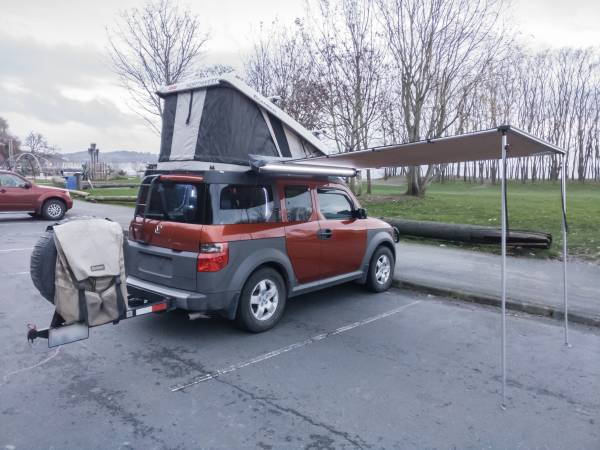 2005 honda element ex awd with camper rv camper. Black Bedroom Furniture Sets. Home Design Ideas