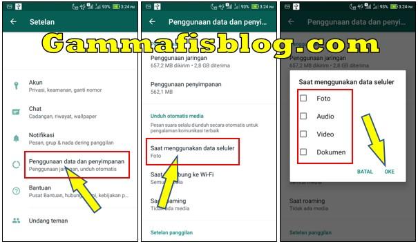 Cara Setting WhatsApp Agar tidak Download Otomatis