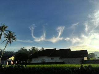 Subhanallah, Lafadz Allah di Langit Kota Sleman Yogyakarta