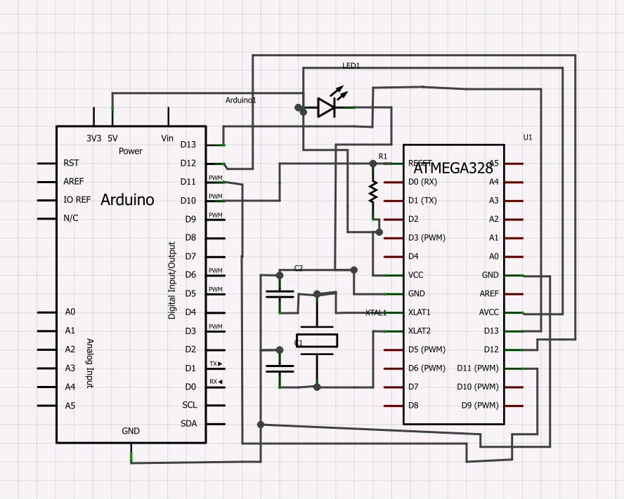 Upload Bootloader to NEW ATMEGA328 using your Arduino