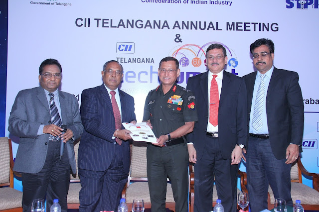 "Need indigenous solutions to fight Indian wars"" Says Lt Gen Subrata Saha at CII Telangana Tech Summit"