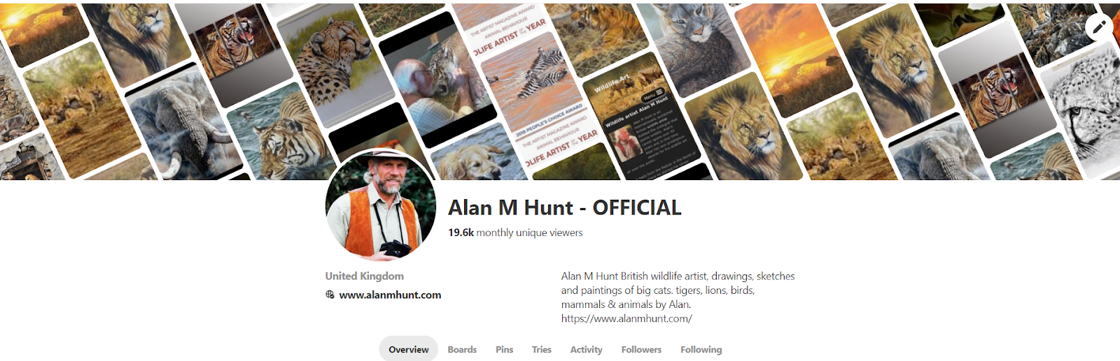 Alan m hunt trio of limited edition wildlife prints: parade.