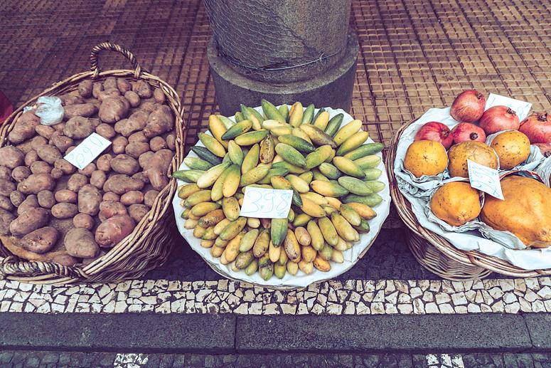 Banan marakuja Mercado dos Lavradores Funchal