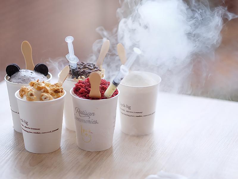 Lycklig Makassar Ice Cream Nitrogen Hits Yang Menyegarkan