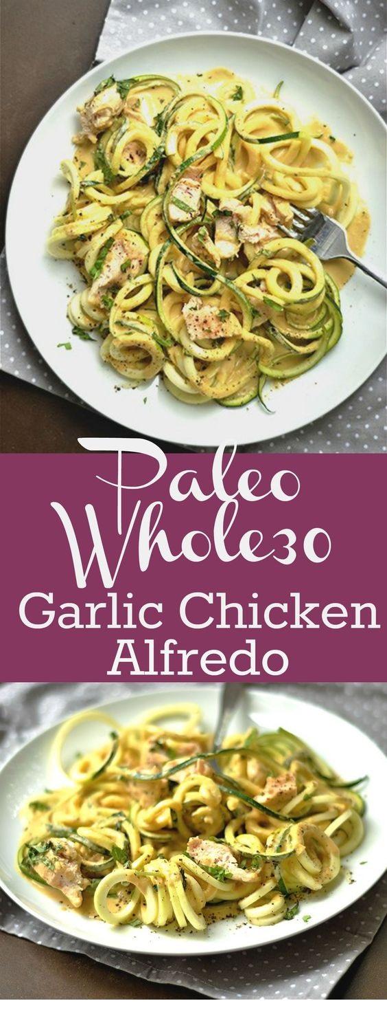 Paleo Garlic Chicken Alfredo
