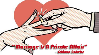 """an analysis of the theme of marriage is a private affair a short story by chinua achebe Read the passage from marriage is a private affair"""" by chinua achebe father,"""" began nnaemeka suddenly, i have come to ask for forgiveness"""" forgiveness."""