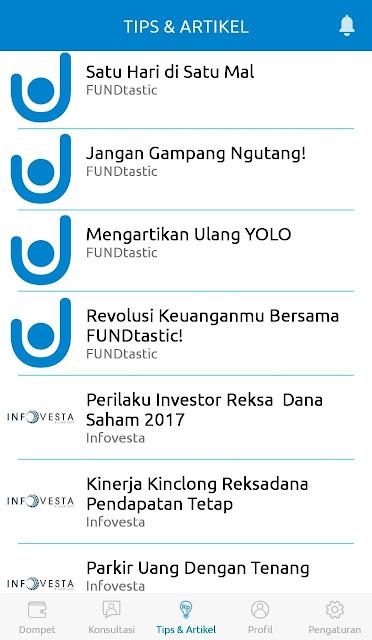 aplikasi android fundtastic analisa laporan keuangan