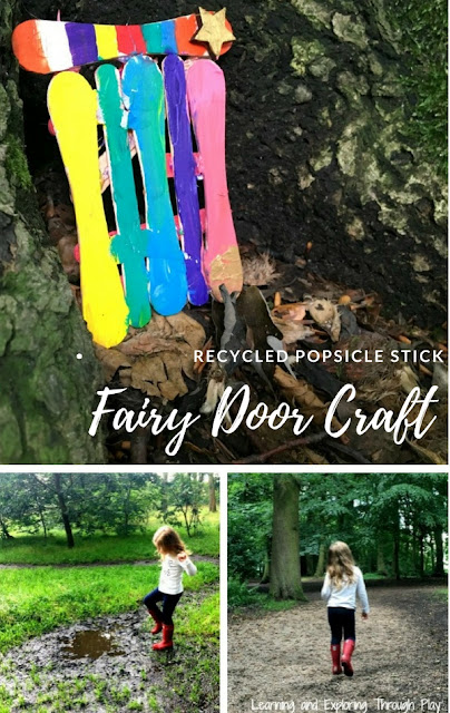 Recycled Popsicle Stick Fairy Door Craft