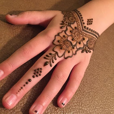 d1483ce9efe17 #13 Simple arabic mehndi designs for left hand : Simple Mehendi Designs For  Beginners