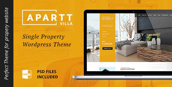 Free Download APARTT VILLA – Single Property Real Estate WordPress Theme