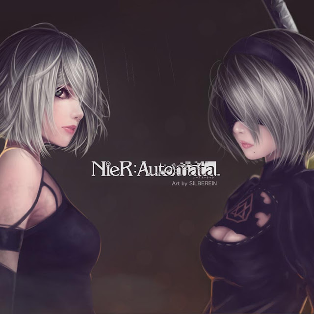 Nier Automata Art by Silberein Wallpaper Engine