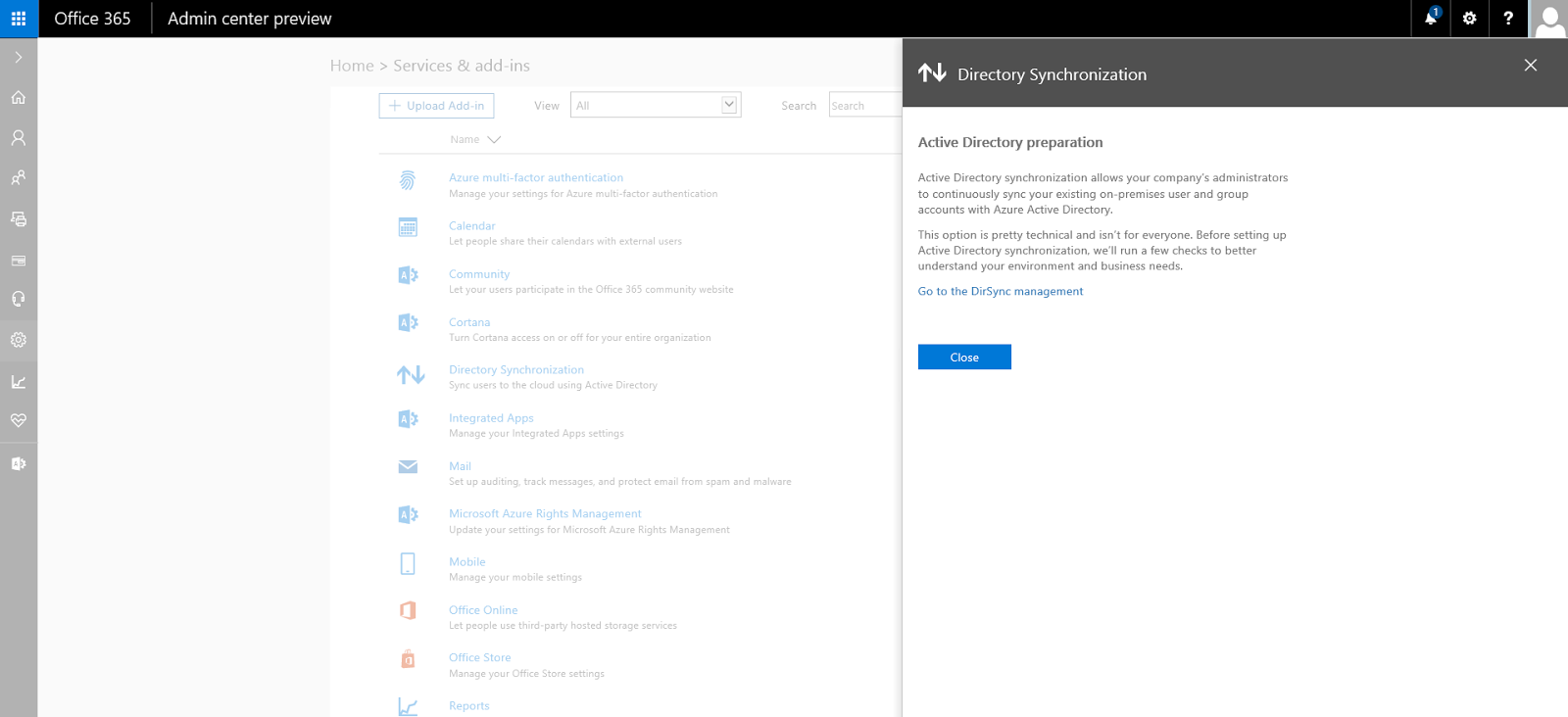 TrustSharePoint: How to Disable Directory Synchronization in Office 365