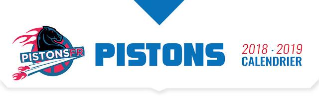 Calendrier PDF à télécharger Detroit Pistons 2018-2019