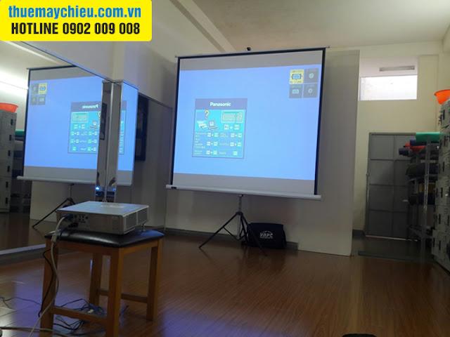 Cho thuê máy chiếu màn chiếu dạy học nhảy tại TpHCM