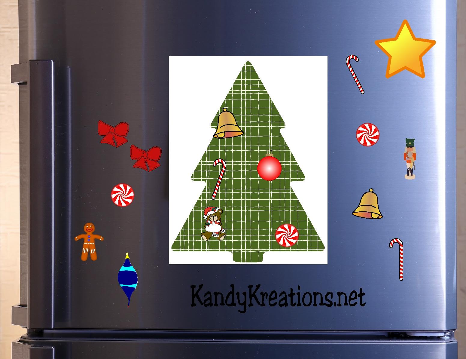 Christmas Tree Advent Calendar Printable