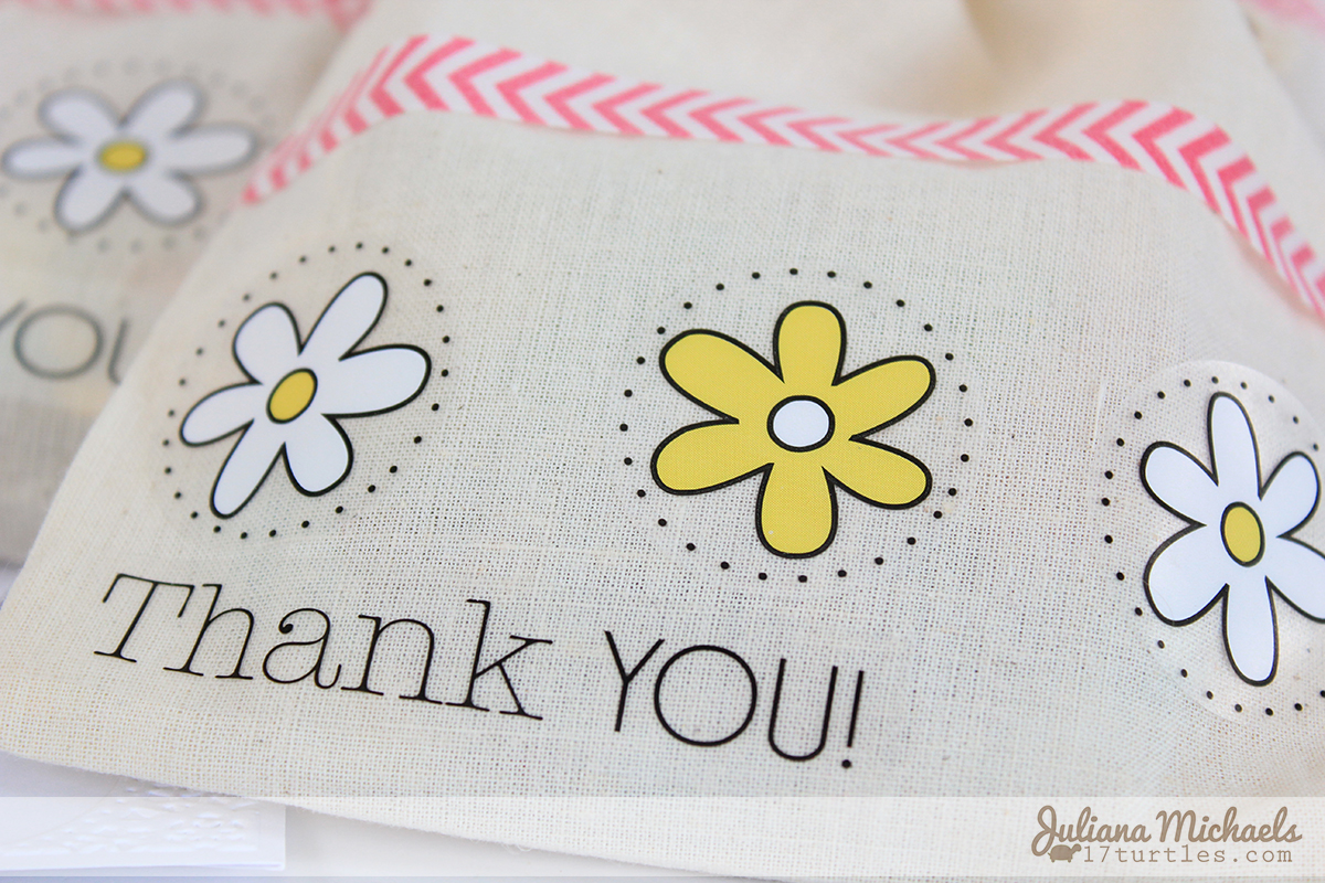 SRM Stickers Muslin Gift Bags Juliana Michaels #srmstickers #muslingiftbags