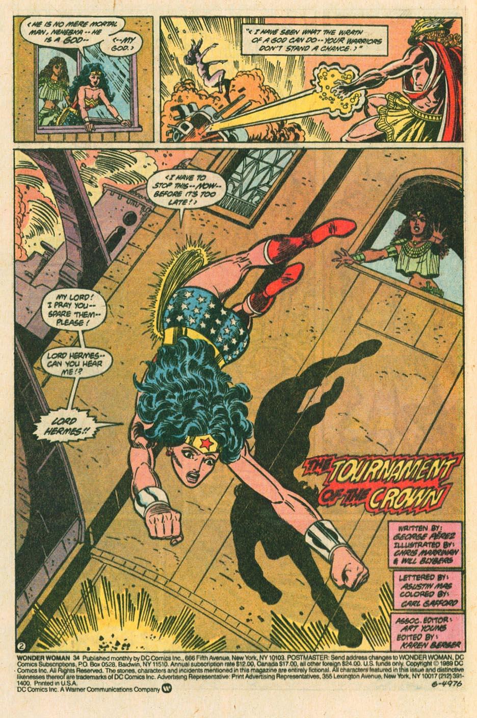 Read online Wonder Woman (1987) comic -  Issue #34 - 3