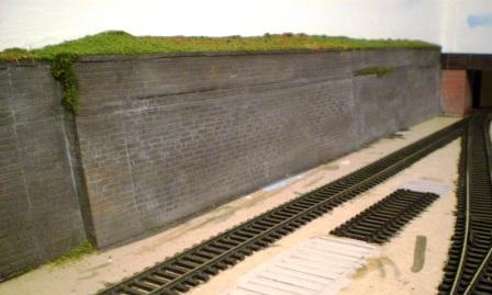 Rhiw wall OO gauge layout