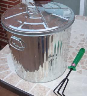 Cubo basura aluminio