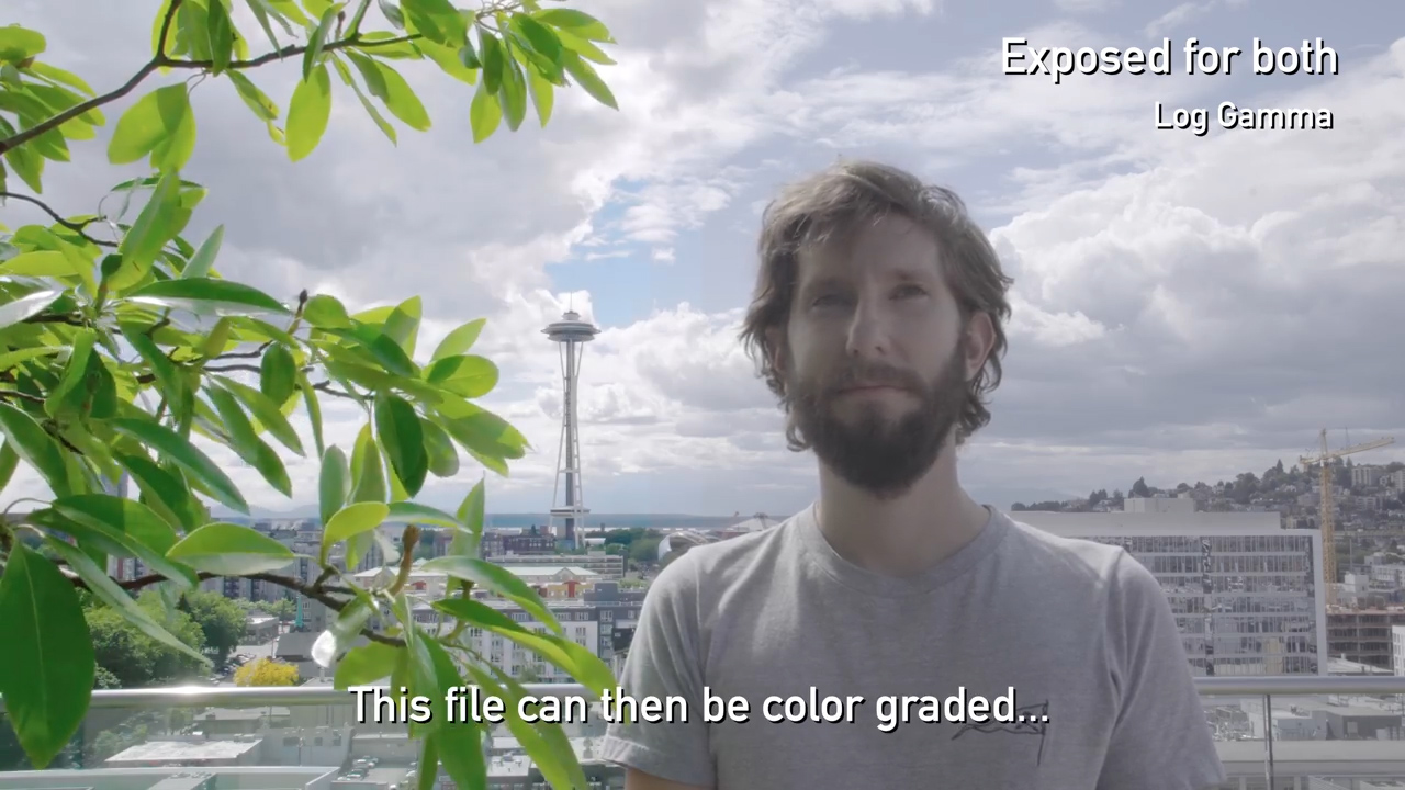 Пример видео в S-Log