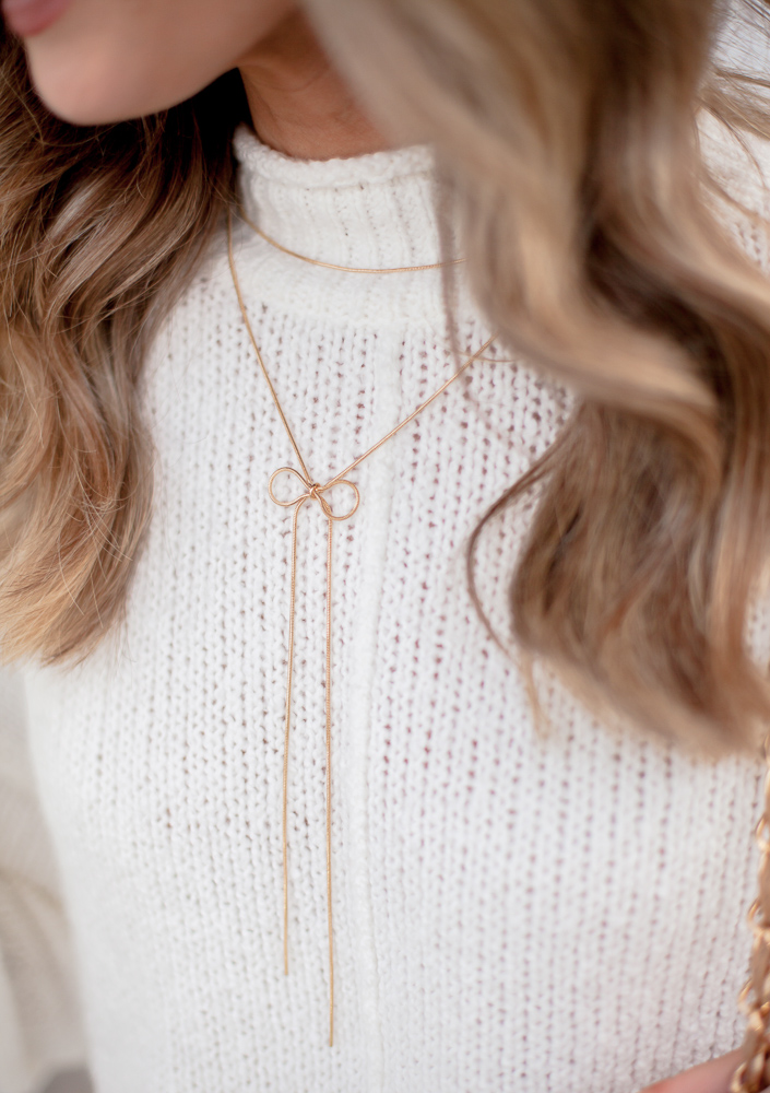baublebar for sugarfix gold lariat necklace with bow