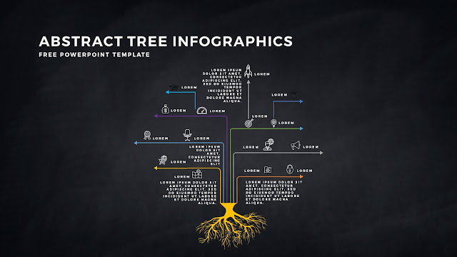 Free Tree Infographics PowerPoint Template with Design Elements Slide 2
