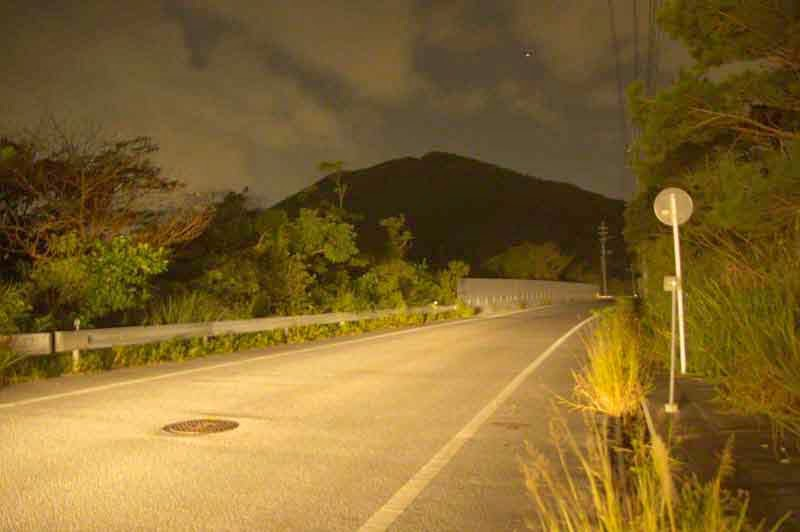 HWY 71, night, Okinawa