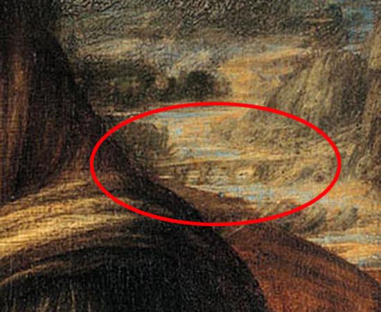 La ricercatrice savonese Carla Glori in seguito a studi e ricerche approfondite, nel settembre 2015 è riuscita a confermare la tesi che il ponte raffigurato alle spalle della Gioconda, identificata nella persona di Bianca Giovanna Sforza, sia proprio il Ponte Gobbo di Bobbio