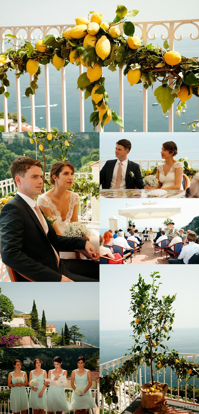Wedding with lemon decorations at the Positano town hall