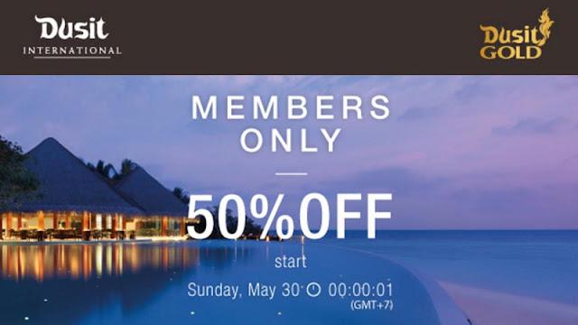 DUSIT 都喜酒店【限時半價】,泰國、馬爾代夫、關島、阿聯酋、埃及等全部50%OFF,今晚半夜(即5月30日零晨1時)開賣!