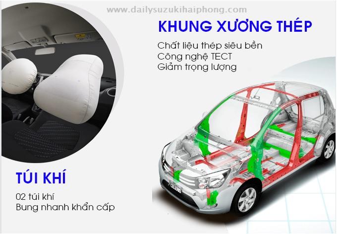 Suzuki Celerio Hai Phong co may tui khi