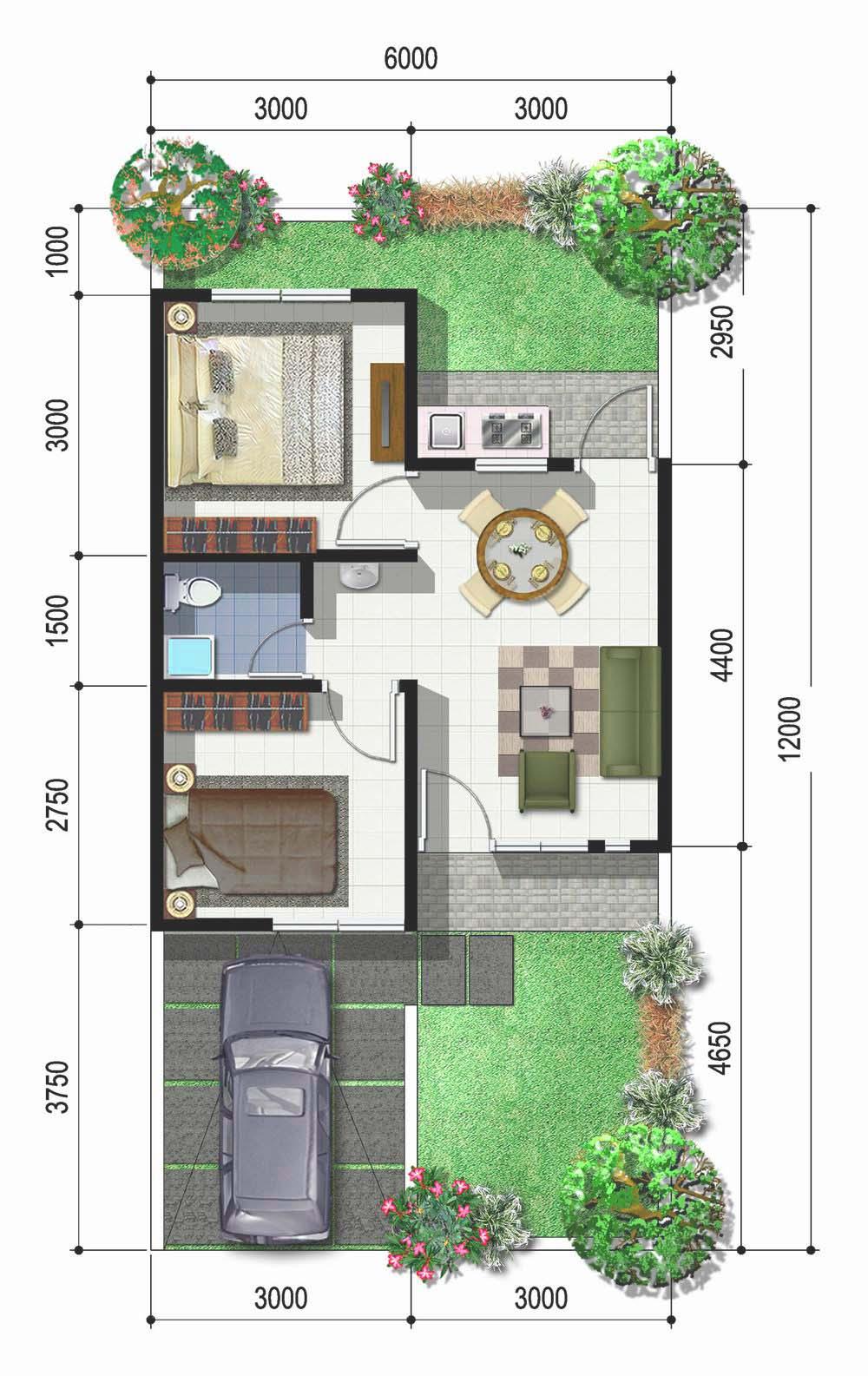 Model Denah Rumah Type 100 Dwg | Denahose