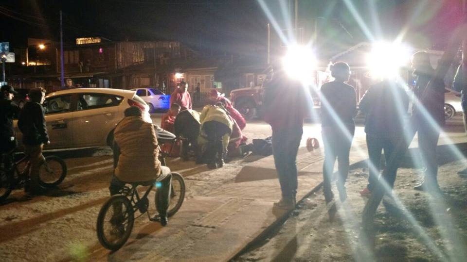 Atropellada en Ushuaia
