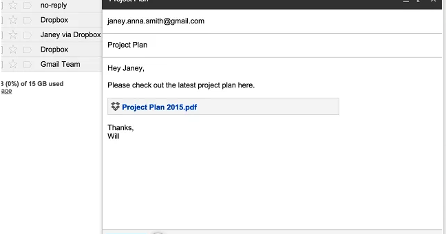 New Handy Chrome Extension for Sending Dropbox Files in Gmail