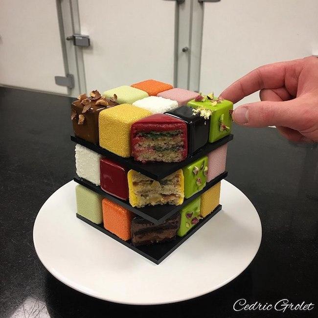 bolos feitos de cubos magicos 05 - Os cubos mágicos que você provavelmente adoraria devorar.
