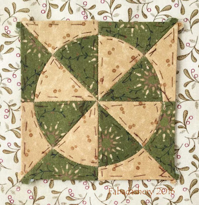 Dear Jane Quilt - Block B2 Sweet Tater Pie