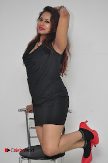 Model Sonia Pictures in Black Dress at Yes Mart Event  0027