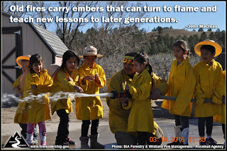 Old fires carry embers that can turn to flame and teach new lessons to later generations. – John Maclean