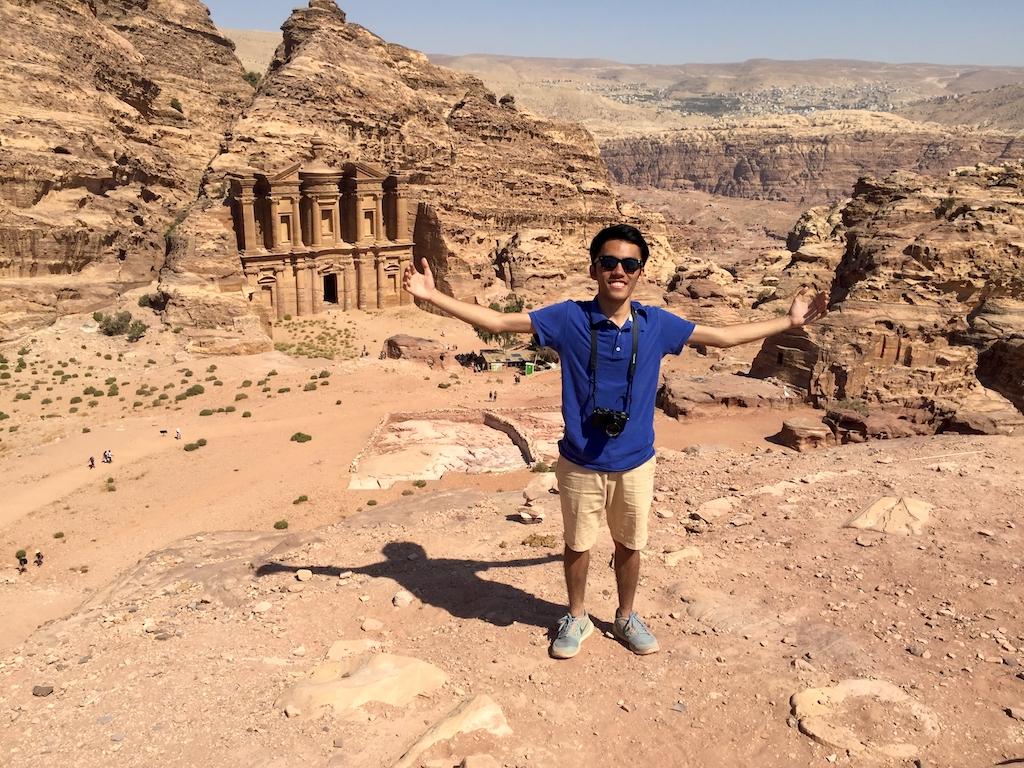 Hiking to The Monastery, Jordan
