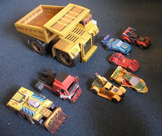 PAPERMAU: Carmageddon Paper Cars