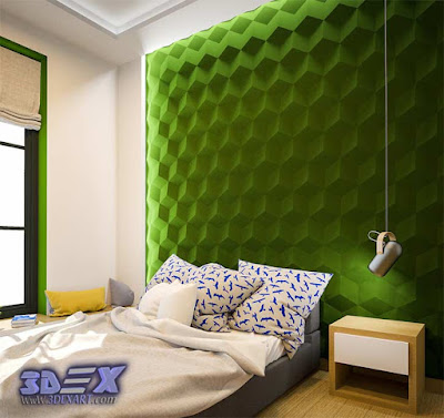 3d gypsum wall panels, 3d plaster wall paneling design, decorative wall panels for bedroom, green walls