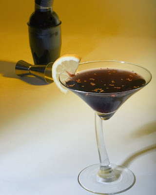 Black and Gold Martini