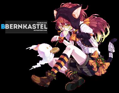 render Halloween Catgirl