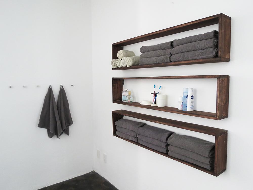 rangement gain de place dans la salle de bain id es maison. Black Bedroom Furniture Sets. Home Design Ideas