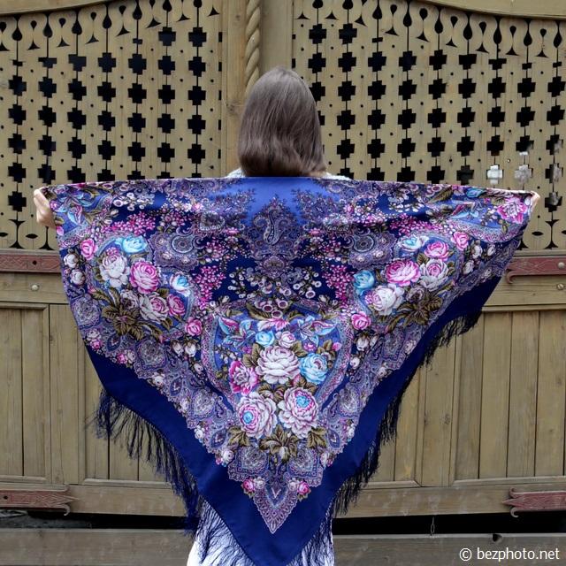 павлопосадский платок как носить фото