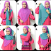 Tutorial Hijab Shawl Dua Warna Stylish