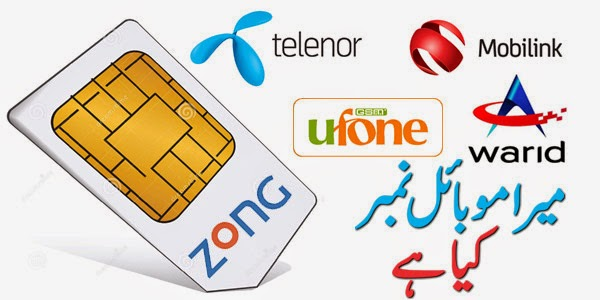 what is my sim card number telenor zong jazz warid ufone